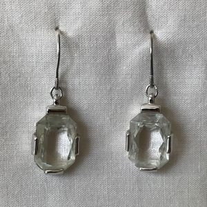 Large Swarovski Octagon Cut Crystal Stud Earrings